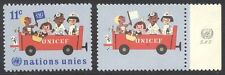 U.N. #163b RARE Mint NH w/Cert - 1966 11c UNICEF, Missing Dark Blue
