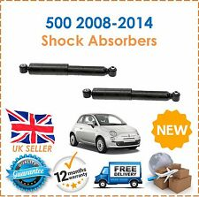 For Fiat 500 500C 2008-2014 TWO Rear Pair Shock Absorbers Set Shockers Dampers