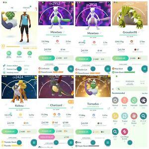 Pokémon Account Go level 33 |  37 Shiny(Rare)| 112 Legendary| 6,4*Pokemon