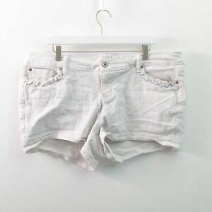 Torrid White Denim Shorts Stretch Womens Size 18