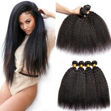 4Bundles Unprocessed Brazilian Kinky Straight Human Hair Extensions Fashion Hair