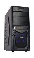 VIVO ATX Mid Tower Computer Gaming PC Case / Black Desktop Shell / 4 Fan Moun...