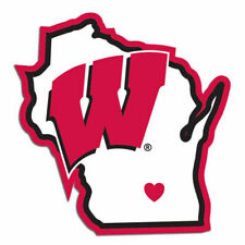 Wisconsin Badgers NCAA 4x5 Perfect Cut State Decal