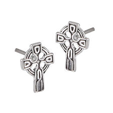 Cross Stud Earrings Sterling Silver Classic Celtic