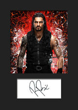 ROMAN REIGNS #3 (WWE) Signed Photo A5 Mounted Print - FREE DELIVERY