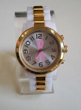 Women's Breast Cancer Awareness Pink Ribbon Fashion Watch