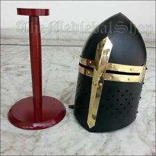 Medieval Sugarloaf Crusader Helmet Knight Sugar Loaf Role Play Larp Costume Gift