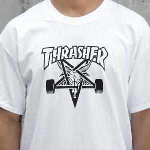 Thrasher Tee Skate Goat White Skateboard Magazine T-Shirt