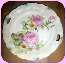 Bavaria Handpainted Beautiful Floral Plate Irridescent GH Greiner Herda