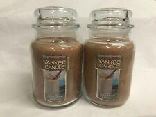 Yankee Candle Lot of (2) CINNAMON VANILLA 22 oz Jar Candle NEW!