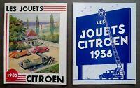 Lot de deux Catalogues fac-similé Les Jouets Citroen 1935 & 1936