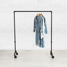 Industrial Pipe Rolling Clothing Rack By William Roberts Vintage 36 Wide