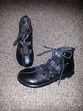 MANGANO ITALY-Funky Cut-Out Sandals-Booties-Black Leather-MRSP300$+ Size 37-6.5