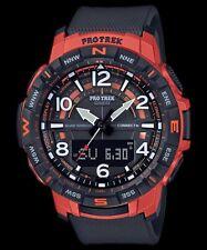 Casio Pro Trek Quad Sensor Bluetooth Connected Red & Black Resin Watch PRT-B50-4