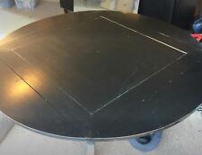 Extendable Dining Table Drop Leaf Room Round Extending Black Pedestal Kitchen