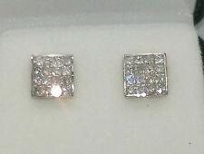 Orecchini con diamanti H in oro giallo 9 carati
