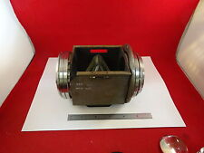OPTICAL HUGE HEAVY MIL SPEC PRISM + MOUNTED LENS OPTICS AS IS BIN#F9-A-02