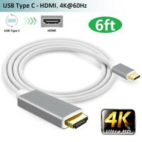 USB 3.1 Type C USB-C to HDMI 4K@60HZ Adapter Cable For Samsung Galaxy S9 Macbook