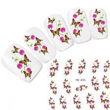 Nagel Sticker Blumen Nail Art Aufkleber Flower Butterfly Fuß Water Decal