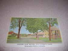 1950s CLOVER LEAF MOTEL NIAGARA FALLS CANADA VTG POSTCARD