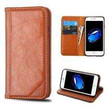 Fundas y carcasas Para iPhone 7 color principal marrón de piel para teléfonos móviles y PDAs