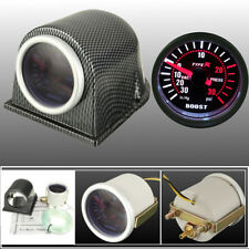 Universal 2'' 52mm Car LED Turbo Boost Gauge Meter Pointer PSI/W Pod Smoke US