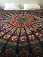 Indian Mandala Bedspreads Bed Cover Throw Bohemian Tapestry Wall Hanging Decor