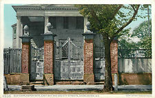 Postcard Old Charleston gate East Bay and Society Streets SC Detroit Publ.11535