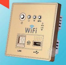 WiFi Router repetidor AMPLIFICADOR 3g LAN WPS con USB cargador en oro