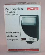Metz, Mecablitz 34 AF-3 Digital Flash, Full Kit - NOS, Boxed, MINT