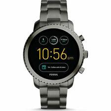 Fossil Q Explorist Gen 4 Smoke Stainless Steel Smartwatch