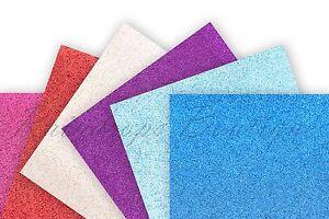 Glitter Fabric A4 24 cm x 30 cm sheets fine glitter sparkle Crafts Bows Decor