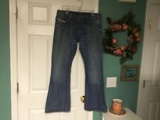 MEN'S DIESEL INDUSTRY ZAF BUTTON FLY DISTRESSED JEANS SIZE 36 X 32 (CON37)