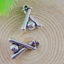 30pcs Vintage Silver Alloy Baseball Pendant Charms Jewelry Crafts 50683