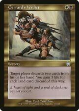 Gerrard's Verdict Apocalypse PLD White Black Uncommon MAGIC MTG CARD ABUGames