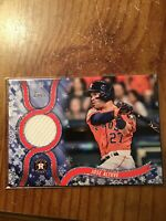 2018 Topps Walmart Holiday Jose Altuve Relic, R-JAL, Astros