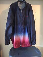 FUBU Hip Hop/ Urban/ Street Wear ombre Red White & Blue Long Windbreaker