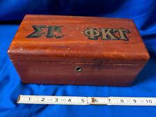Lane Cedar Box Chest Jewelry Trinket Wood 9x4 VTG Fraternity Sorority College