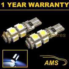 2X W5W T10 501 CANBUS ERROR FREE WHITE 9 LED INTERIOR COURTESY BULBS IL101701
