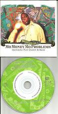 NOTORIOUS BIG PUFF DADDY & MASE Mo Money Problems MIX & INSTRUMENTAL CD single
