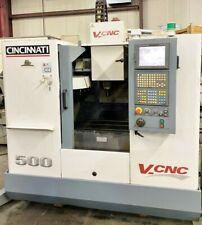 Cincinnati V Cnc500 Vert Machining Center Fanuc 21im Age 2002