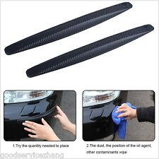 2x Carbon Fiber Protector Anti Scratch Bumper Guard strip sticker universal car