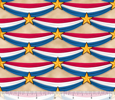 LONG MAY SHE WAVE BUNTING Quilting Treasures 100% cotton fabric by the yard