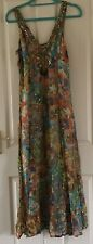 PHASE EIGHT Dress Size 10 Summer Chiffon V Neck Sleeveless Dress Sequin Charms