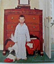 Norman Rockwell Vintage print Discovering Santa 16x11 Offset Lithograph Unsigned