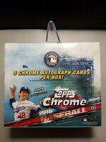 2016 Topps Chrome Baseball Factory Sealed HTA Jumbo Pack Hobby Box (5 Autos)