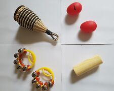 """Shake Rattle Roll"" Percussion Pack 6 Items, 4 Different Instruments. Percussion"