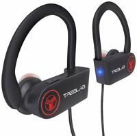 TREBLAB XR100 Wireless Earbuds Noise Cancelling Bluetooth Headphones Sport Black