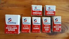 7 Schilling McCormick Spice Tins