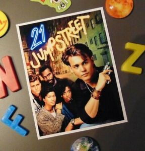 Johnny Depp 21 Jump Street Fridge MAGNET Police Drama 1980's TV Show Series Cast